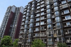 A large block of flats in Beijing China