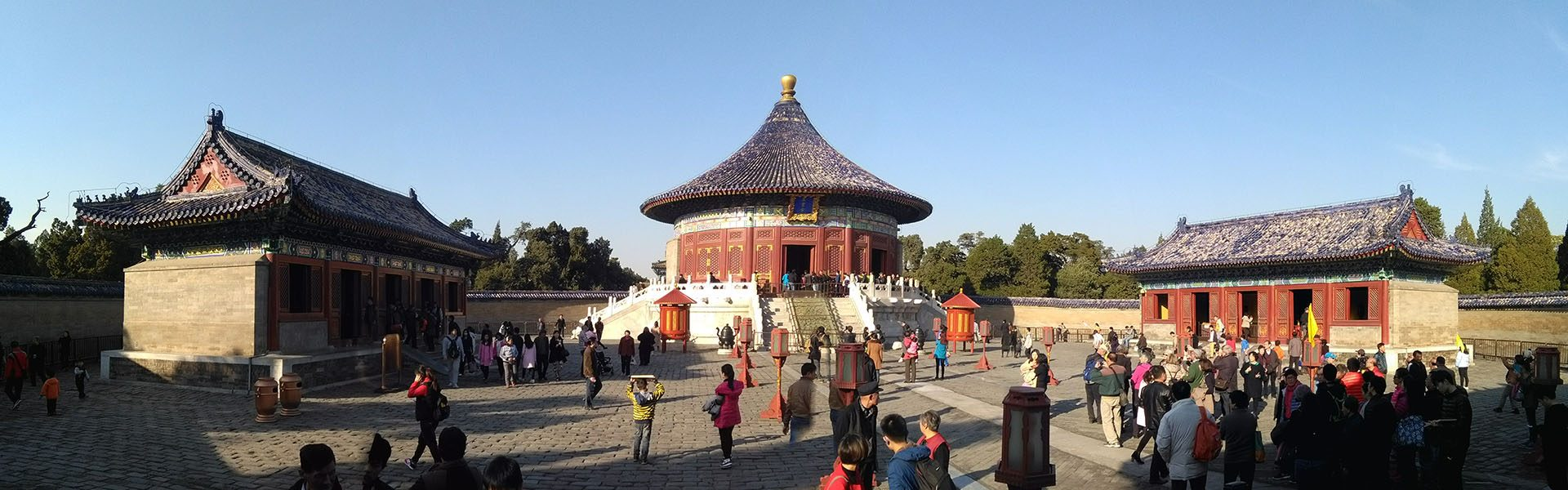 A panarama of the temple of heaven in Beijing