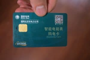 A beijing electricity card