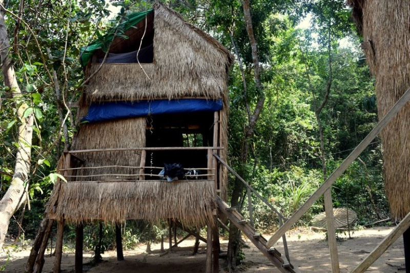 A wooden and straw bungalow on the beach - on of the koh ta kiev accommodation options