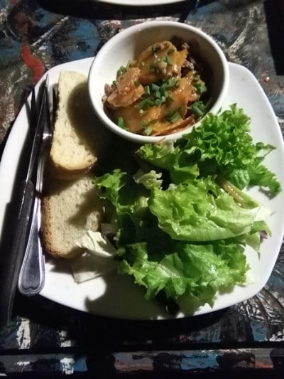 A beef stew and salad on koh ta kiev island