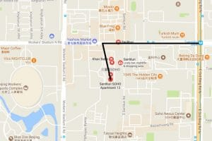 A map to the best beijing cat cafe