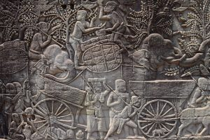 Intricate carvings of Angkor Wat