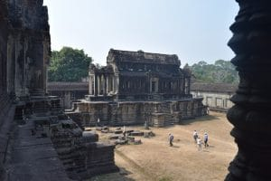 A large outbuilding to the main temple. The outbuilding is large by normal standards