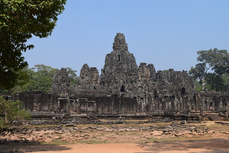 A large ruin in Angkor Wat