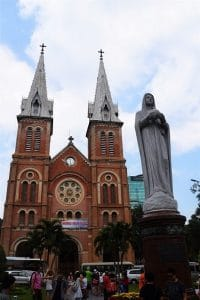 A french Style church in Ho Chi Minh