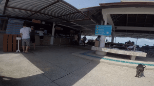 A ticket stall for the boat from koh Samui to Koh Panghan