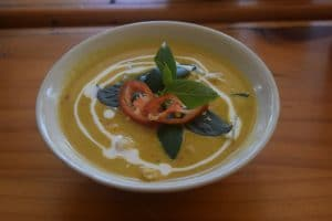 The finished red curry from thai farm cooking school chaing mai