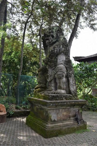 Tall stone monkey statue