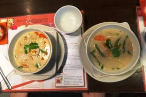 2 asian soup dishes