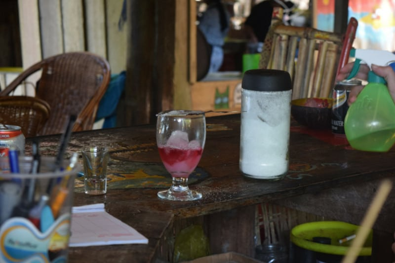 A glass of absinth in koh ta kiev cambodia