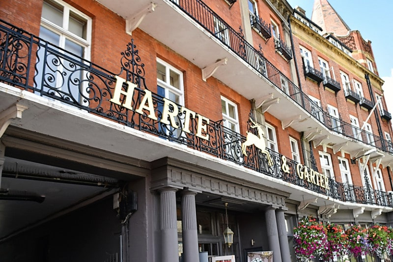 The front of the Harte hotel in windsor england