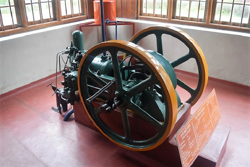 A small engine that used to help power a tea factory