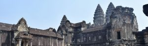A large central temple at angkor wat