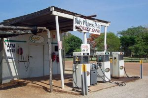 A small fuel station in the middle of outback australia