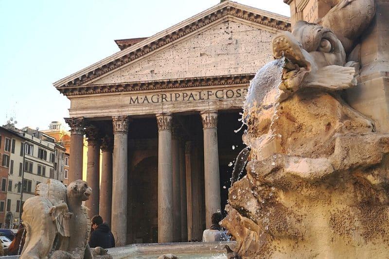 An Italian church with granite columns