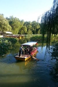 A boat amongst lillies in the summer palace