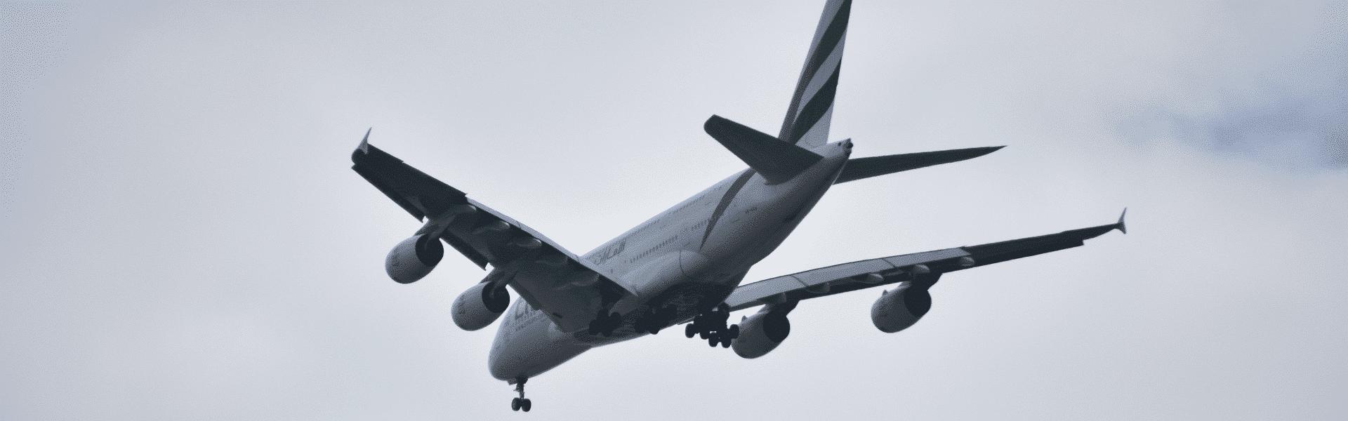 British Airways Plane Flying Overhead