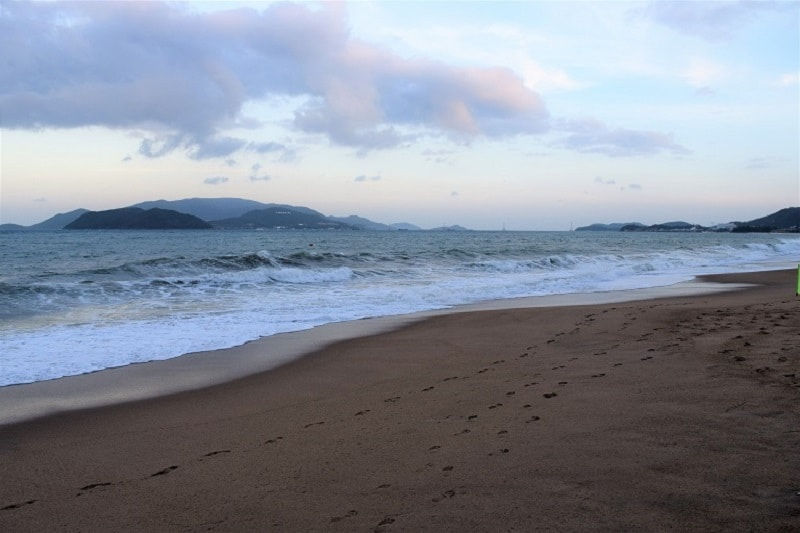 Frothy Beach in Nha Trang Vietnam Backpacking Vietnam