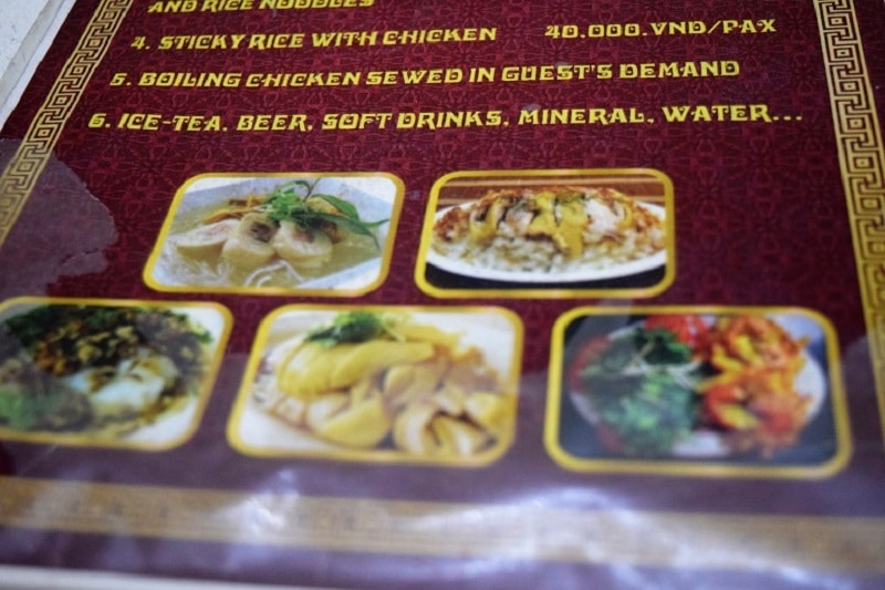 Menu Food in Vietnam Backpacker's Guide to Vietnam Backpacker's Guide to Vietnam