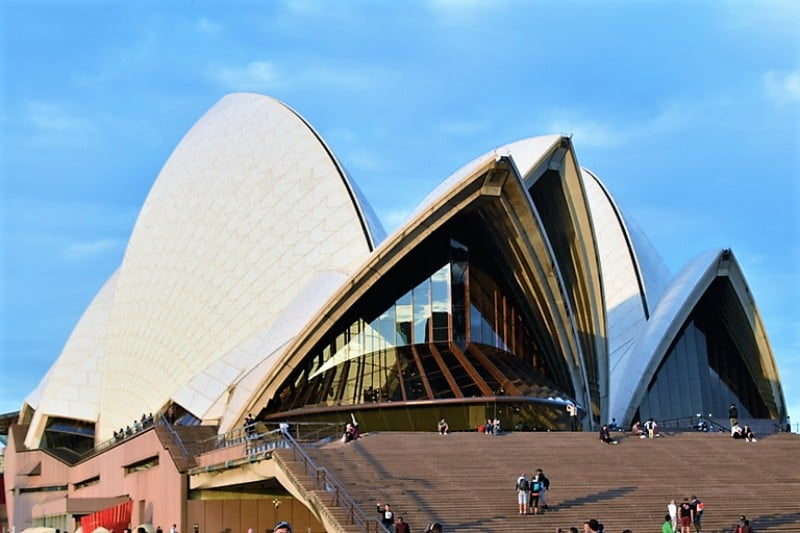 The Sydney Opera House in Sydney Harbous