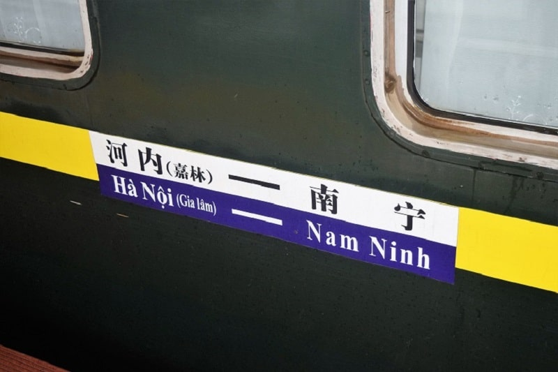Vietnamese Train Going To Hanoi Backpacking Vietnam