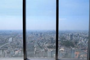 A view from a very tall building over looking Ho Chi Minh City