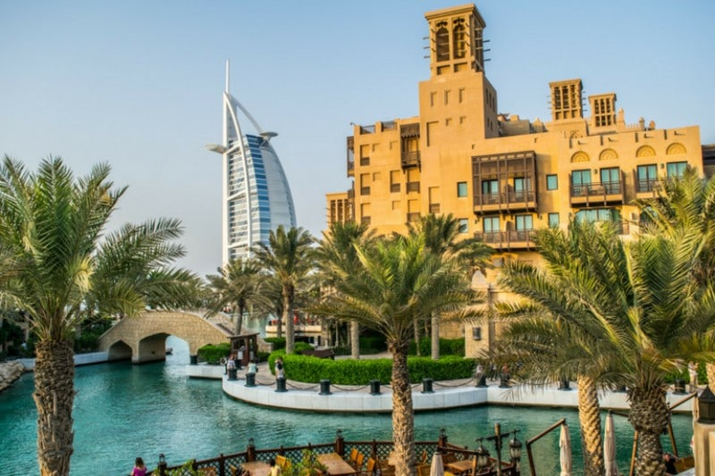 Best Places To Visit In February - Pool with the Burj Al Arab in the background