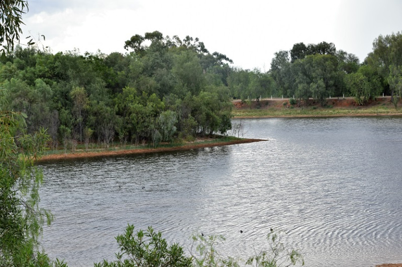 A typical resevoir in an outback town australia