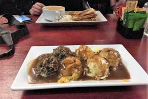 A traditional haggis and neeps and tatties