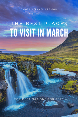 Discovering the best places to travel in March gives you plenty of amazing destinations to choose from. Spring is on it's way across Europe, and it's still warm enough down under to enjoy being outside! Travel in March 2020 | March holidays | Destinations in March | Spring break | Cheap countries | European cities in March | Reasons to visit in March | Where to go in March | #provence #iceland #sydney #valencia #colombia #london #xian #byronbay #lanzarote #hongkong #pulauweh #dubrovnik #kolkata #rome #baku