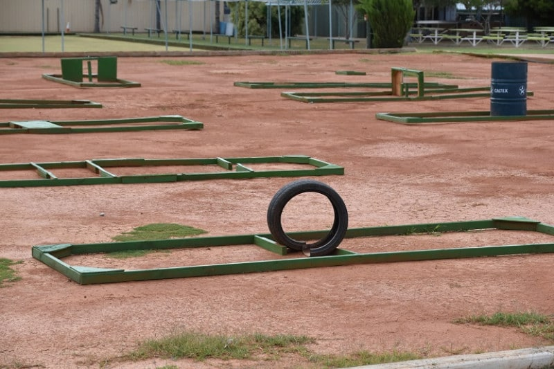 A mini golf course in the outback NSW
