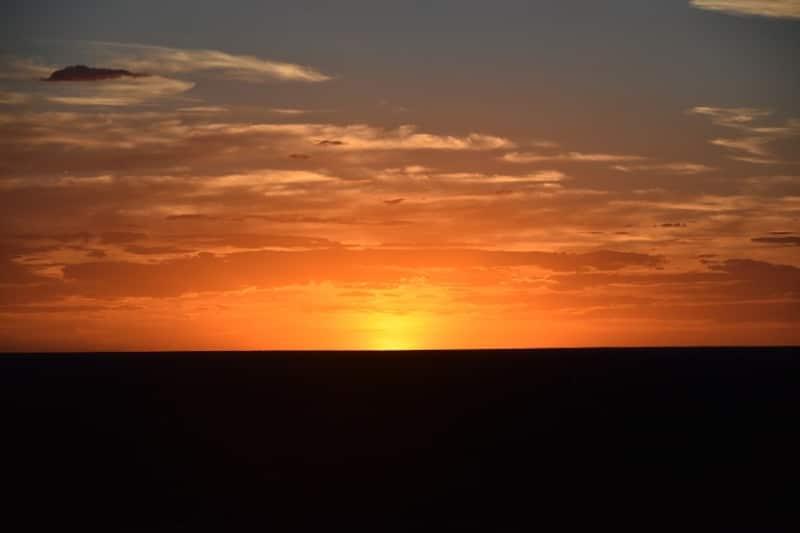 A much darker orange and black sunset in cobar NSW