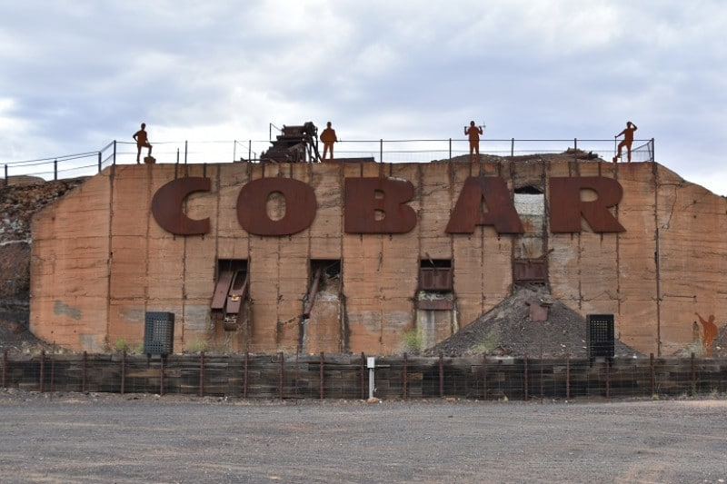 A large monument to mining at cobar NSW
