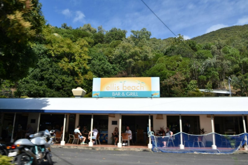 A restaurant on the side of the great barrier reef drive from cairns to port douglas