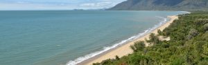A long view of a beach from port douglas lookout