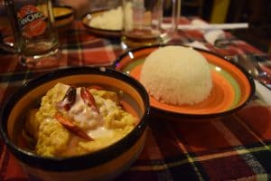 A cambodian curry and rice dish perfect for a budget traveller