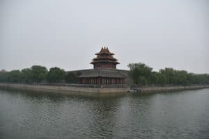 A picture of the outside of the forbidden city, pictured whilst backpacking in China