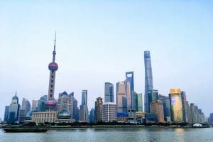 Shanghai CBD by the river