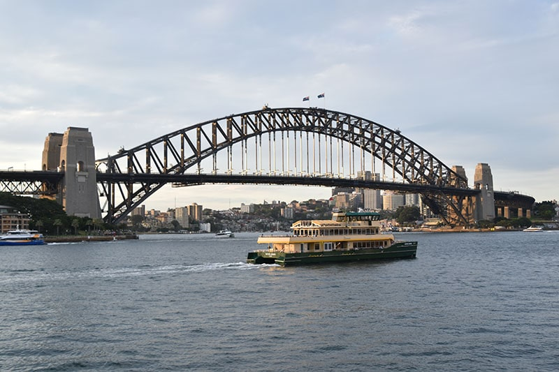 Sydney harbour bridge pictured whilst backpacking Australia
