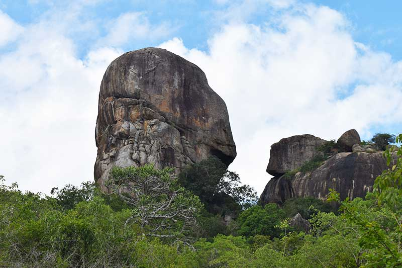 A picture of Elephant rock at yala national park sri lanka
