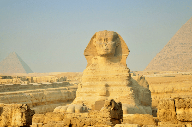 The Great Sphinx in Egypt in November