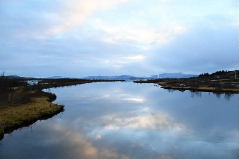 Reflection in Lake Thingvellir National Park