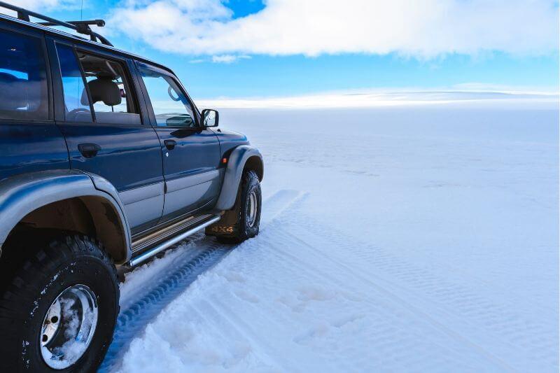 4X4 parked on empty ice
