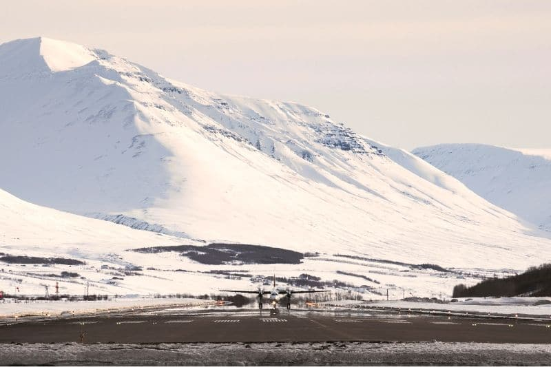 Akureyri airport is the sight for all north iceland helicopter tours
