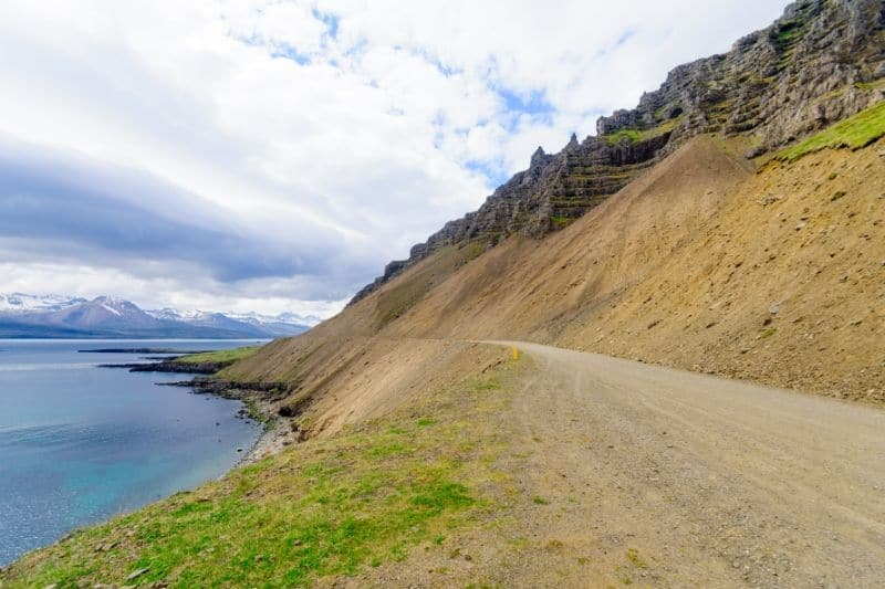A gravel track in the East Fjords Iceland