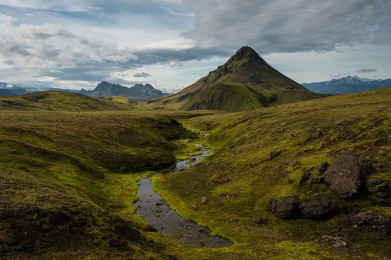 Hiking trails that become available in Iceland in summer