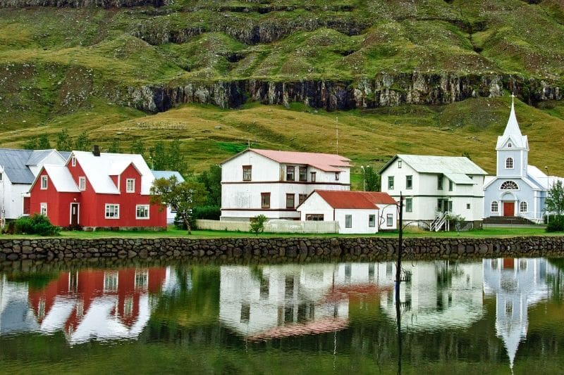 One of the most beautiful towns in all of the East Fjords Iceland
