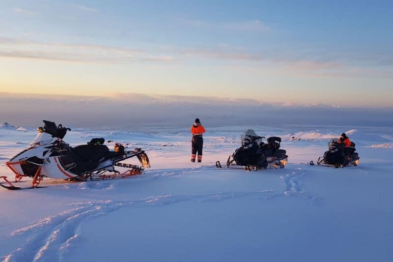 Snowmobile is one of the best winter tours in Iceland