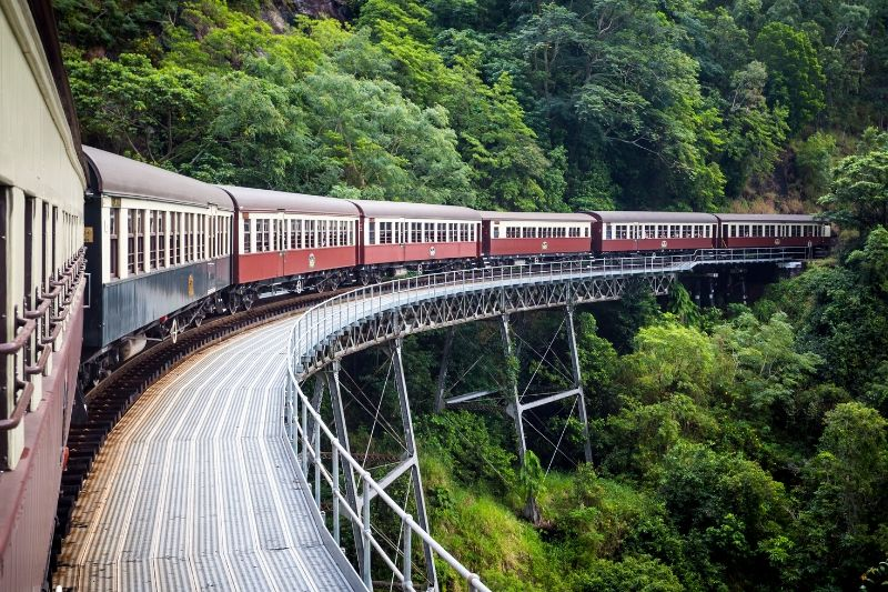 Kuranda railway that is available as a tour from cairns